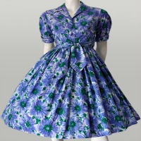 vintage 50s purple dress