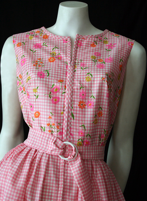 vintage 60s dress by swirl with tags vintage clothing