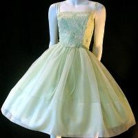 vintage 50s green dress