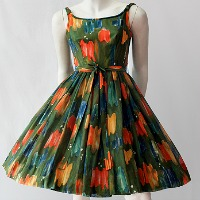 vintage 50s sun dress