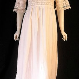Vintage 1910s cotton and lace nightie