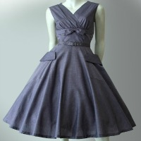 vintage 50s lilac dress