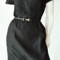 vintage 60s embroidered silk dress