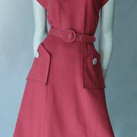 Classic 1950s linen dress