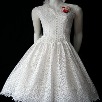 Vintage 1950s white dress
