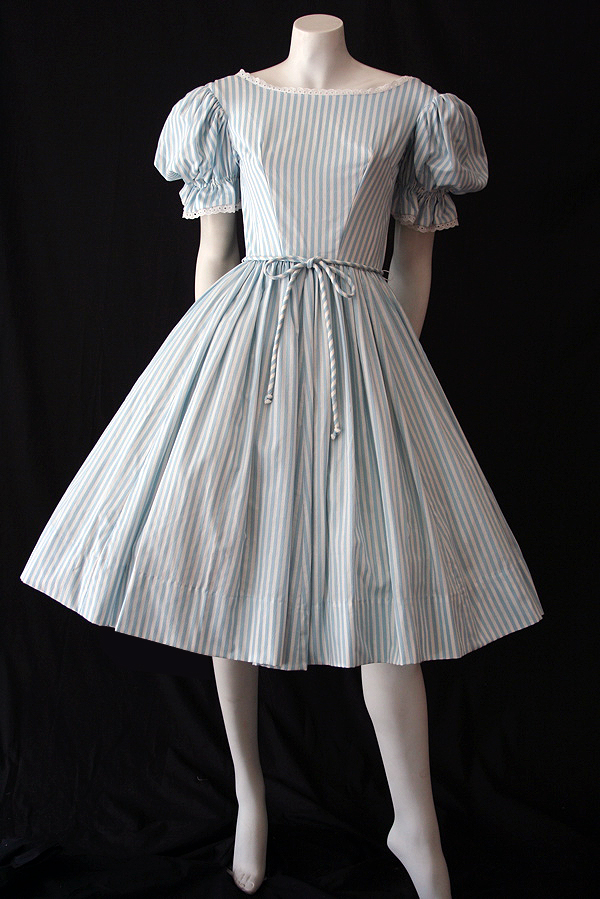 1950's original candy striped vintage dress.