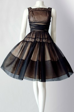 Vintage 50s silk organza dress