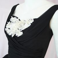 Close up 50s prom dress