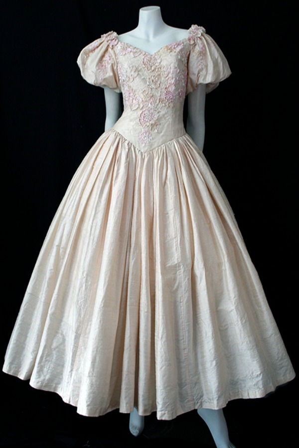 Pure silk and ribbon lace dress by Gardams of Brisbane