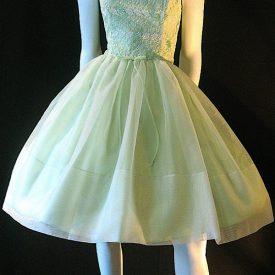 Vintage 50s chiffon and lace dress