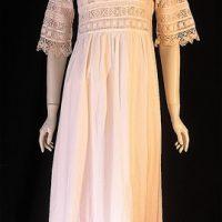 VintageEdwardian era cotton and lace nightie