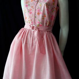 Gingham vintage 60s dress
