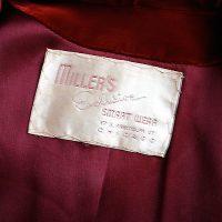 1940s silk velvet evening jacket label