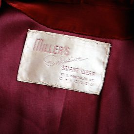 1940s silk velvet evening jacket label