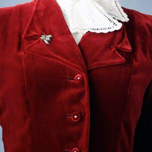 1940s vintage silk velvet evening jacket