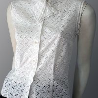 1950s broderie anglaise cotton blouse