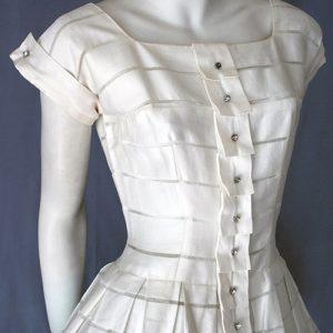 Original 1950s vintage dress. Bodice detail.