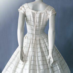 Original 1950s vintage Swiss cotton day dress back