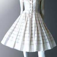 Original 1950s vintage dress. Swiss cotton day dress