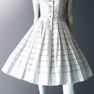 Original 1950s vintage dress. Swiss cotton day dress