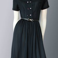 1950s shirt-waist dress with tags