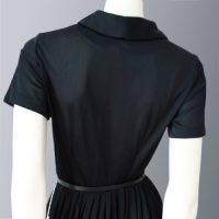 1950s shirt-waist dress with tags back