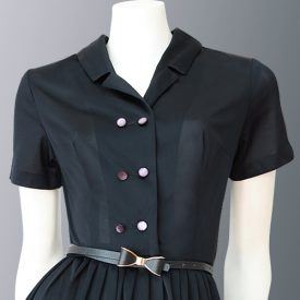 1950s shirt-waist dress with tags detail